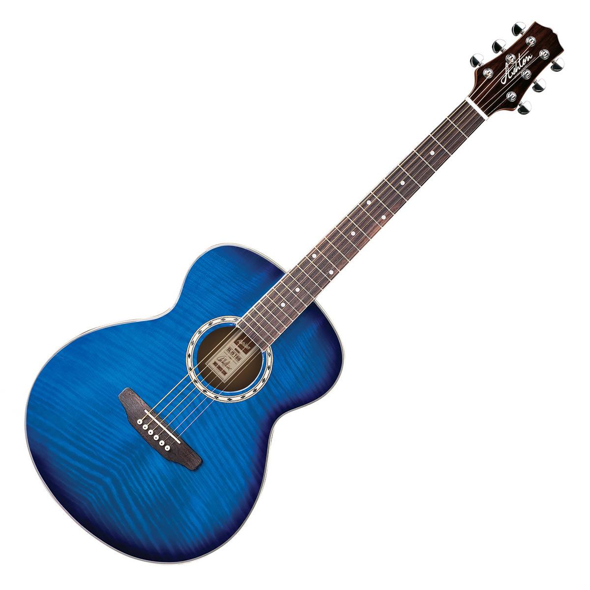 Ashton Sl29 Acoustic Guitar Transparent Blue Burst At