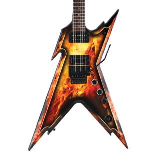 Dean Razorback Electric Guitar, Explosion w/Case