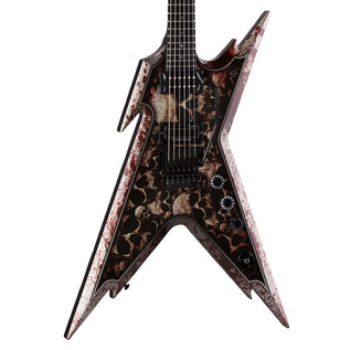 Dean Dimebag Razorback Electric Guitar, Skullz w/Case