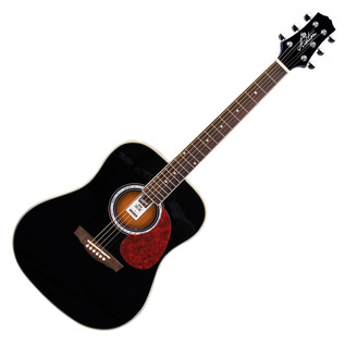Ashton D24 Dreadnought Acoustic Guitar, Black