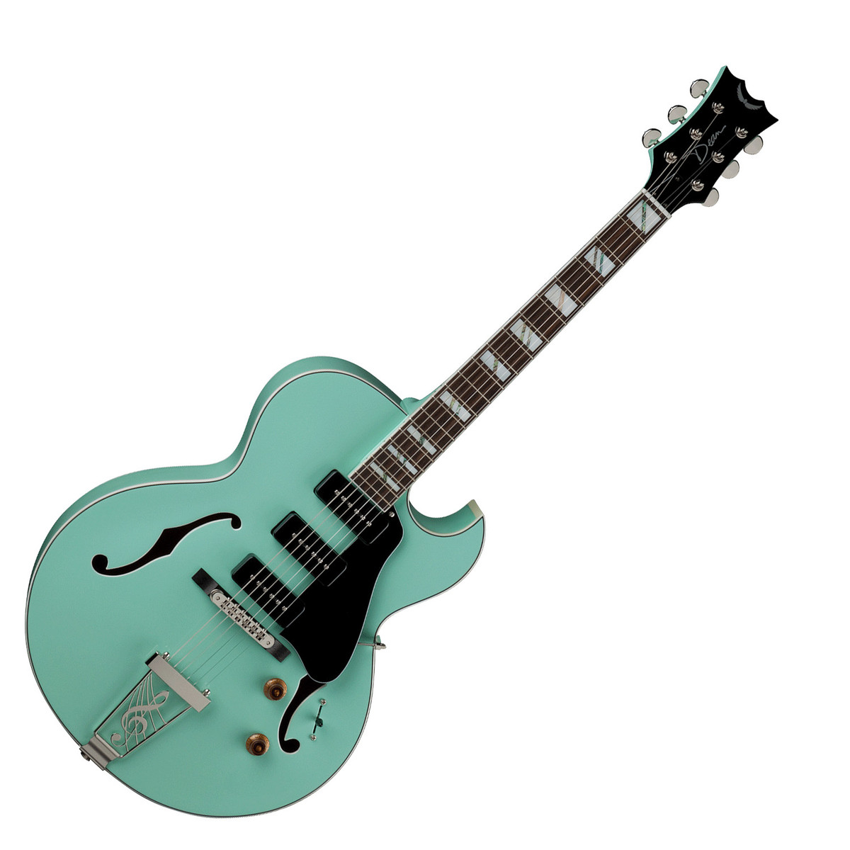 Disc Dean Palomino Hollowbody Guitar Sea Green At Gear4music