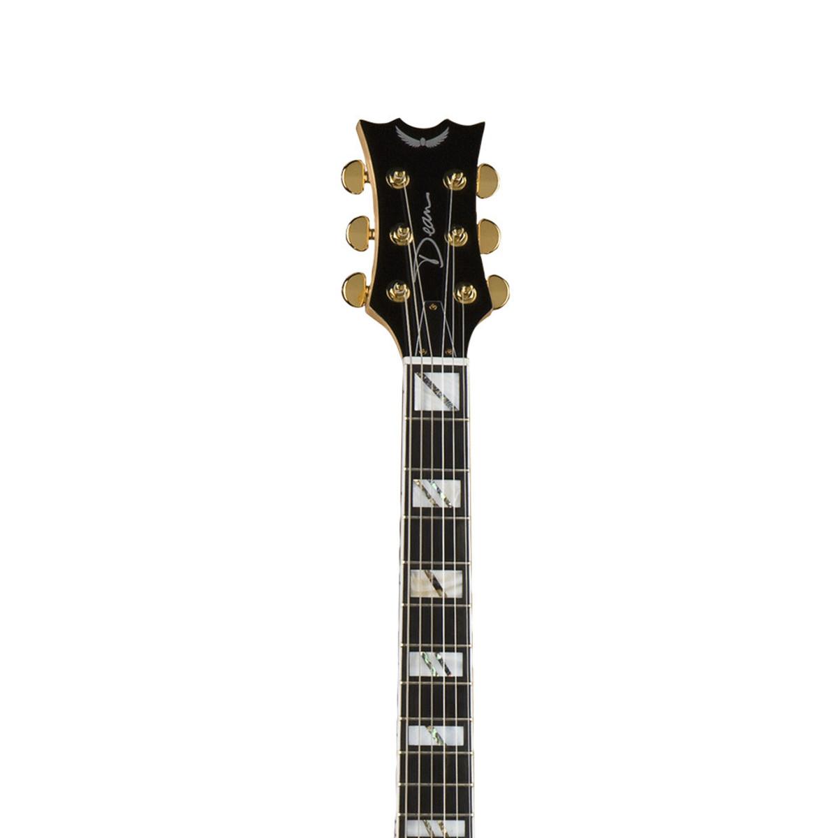 Disc Dean Palomino Solo Hollowbody Guitar Gloss Natural At Gear4music