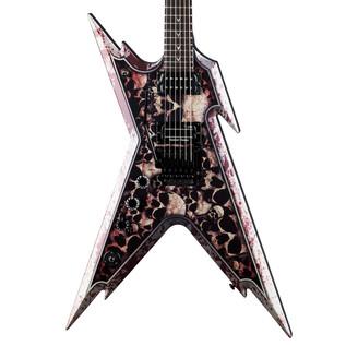 Dean Dimebag Razorback Left Handed Electric Guitar, Skullz w/ Case