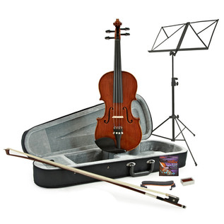 Deluxe 1/4 Violin + Accessory Pack by Gear4Music