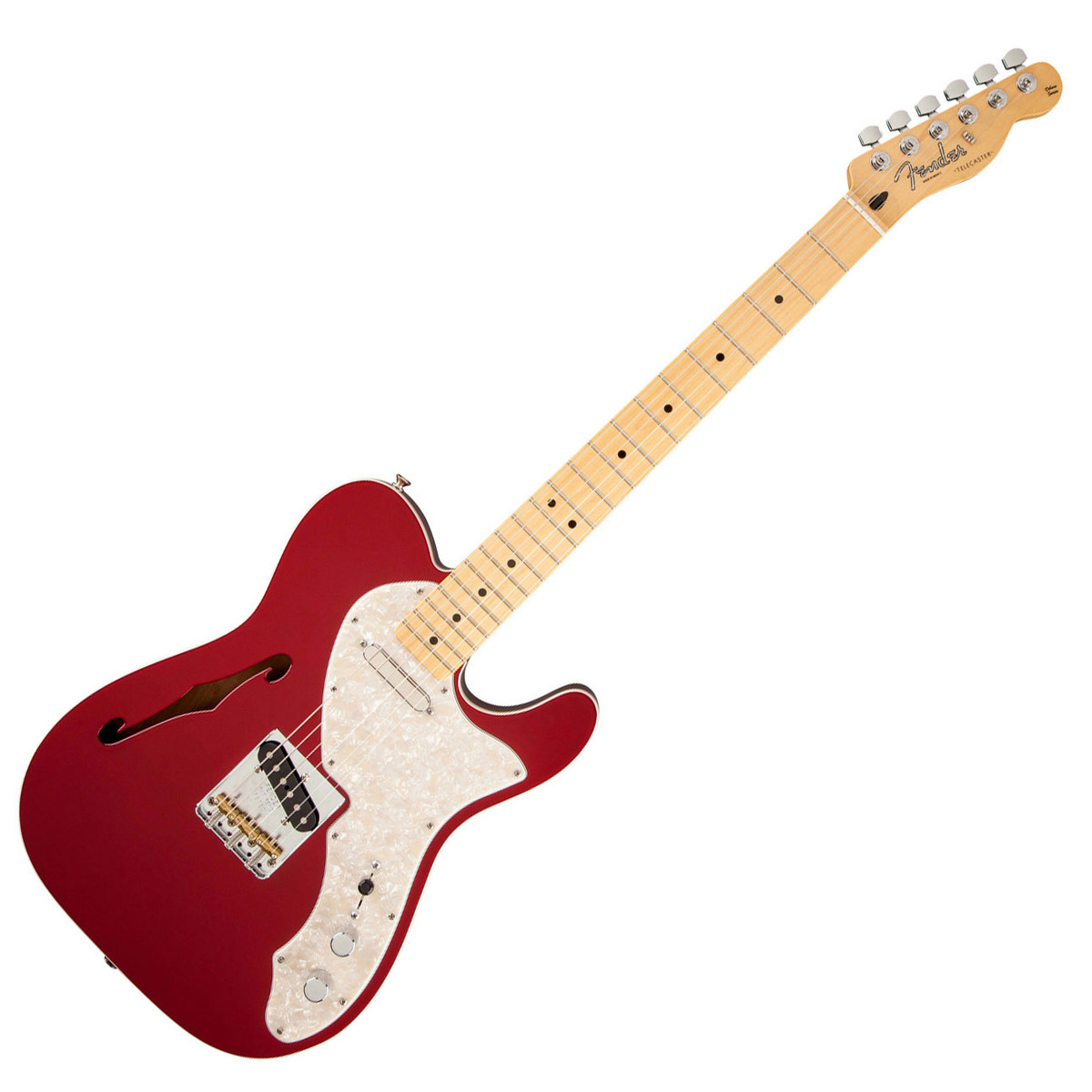 fender fsr deluxe telecaster thinline mn candy apple red at gear4music. Black Bedroom Furniture Sets. Home Design Ideas