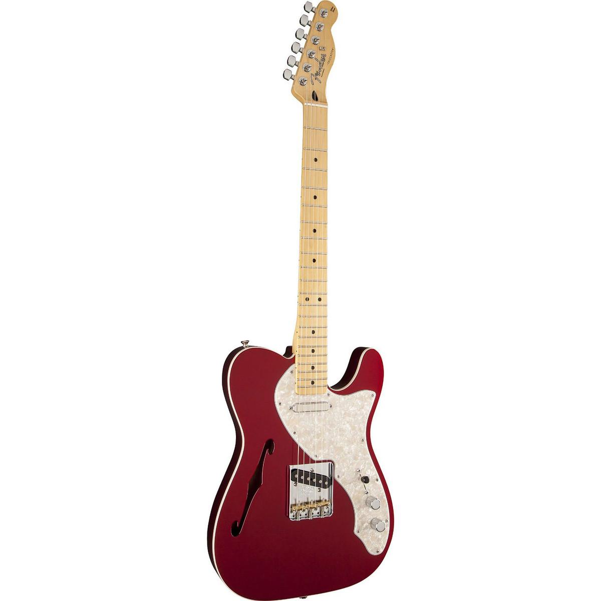 Fender FSR Deluxe Telecaster Thinline, MN, Candy Apple Red