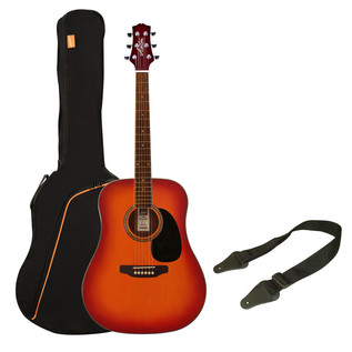 Ashton SPD25 Acoustic Guitar Starter Pack, Cherry Sunburst