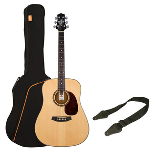 Ashton SPD25 Acoustic Guitar Starter Pack, Natural Matte