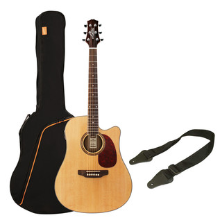 Ashton SPD25CEQ Electro Acoustic Guitar Starter Pack, Natural Matte
