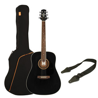 Ashton SPD25 Acoustic Guitar Starter Pack, Black