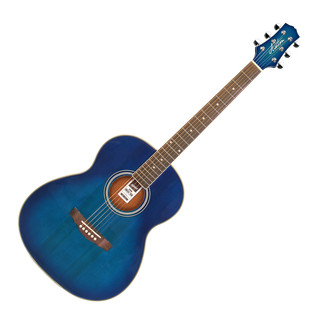 Ashton OM24 Acoustic Guitar, Transparent Blue Burst