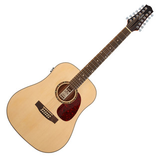 Ashton D25/12EQ 12 String Electro Acoustic Guitar, Natural Matte