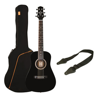 Ashton SPJOEYCOUSTIC 3/4 Acoustic Guitar Starter Pack, Black