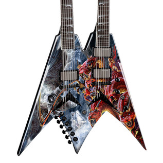 Dean V Dave Mustaine Double Neck Electric Guitar, Diadem