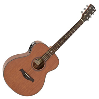 Deluxe Electro Acoustic Folk Guitar + 15W Amp Pack, Mahogany