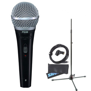 Shure PG58 With Mic Stand and Cable