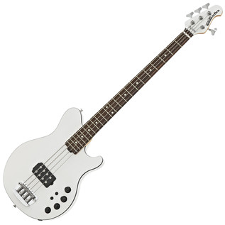 Music Man Reflex H Bass Guitar, RN, White