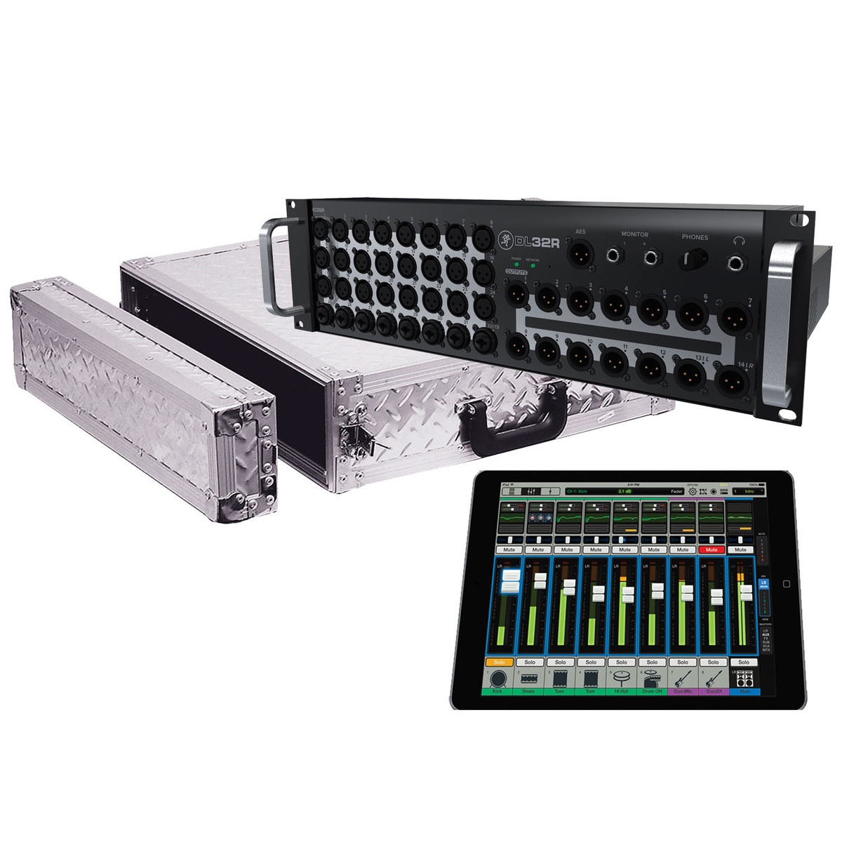 mackie dl32r wireless digital audio mixer with free flight case at gear4music. Black Bedroom Furniture Sets. Home Design Ideas