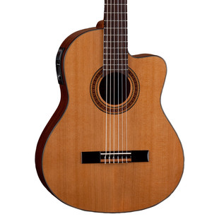 Dean Espana Solid Top Cutaway Electro Acoustic Guitar, Natural