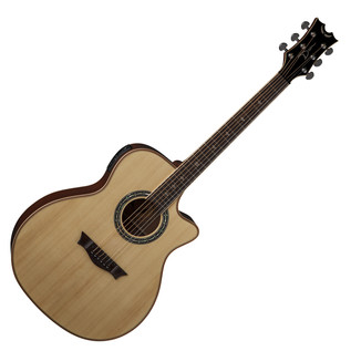 Dean Exotica Plus Solid Top Electro Acoustic Guitar, Natural Gloss