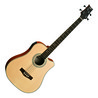 Ashton ACB100CEQ Electro acoustique guitare basse, mat naturel