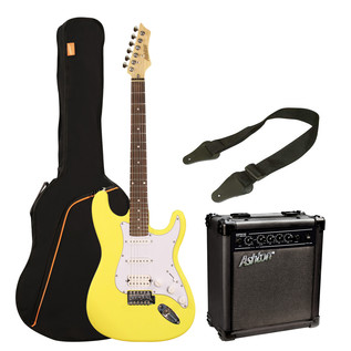 Ashton SPAG232 Electric Guitar Starter Pack, Yellow