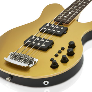 Music Man Reflex HH Bass Guitar, RN, Gold Top