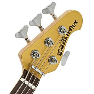 Music Man Reflex HH Bass Guitar, RN, Gold Top