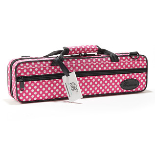 Beaumont Pink Polka Dot Flute Case