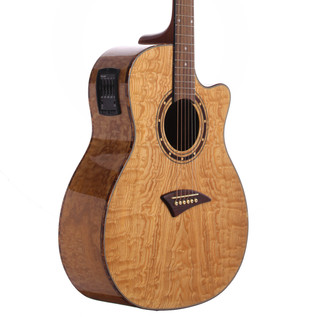 Dean Exotica Quilt Ash Electro Acoustic Guitar, Gloss Natural