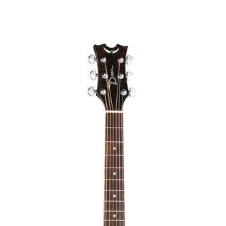 Dean Exotica Quilt Ash Electro Acoustic Guitar, Trans Black