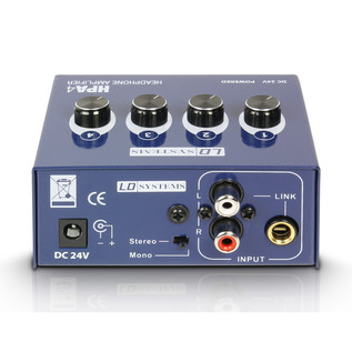 LD Systems 4-Channel Headphone Amplifier, Rear