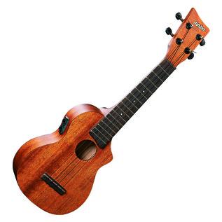 Ashton UKE220EQ Electro Acoustic Soprano Ukulele, Mahogany
