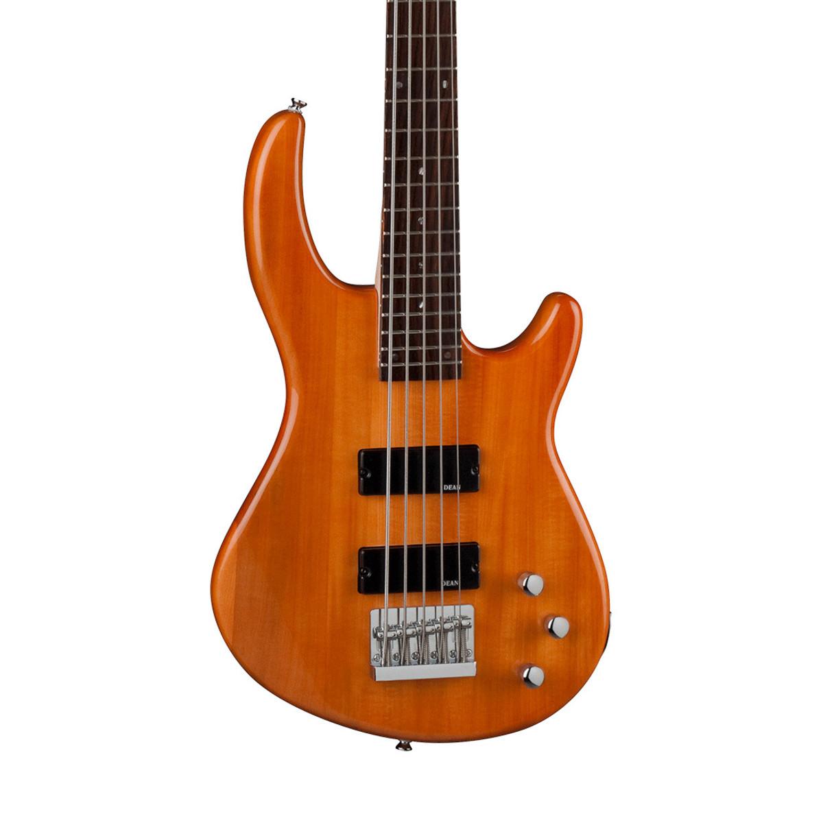 dean edge 1 5 string bass guitar trans amber at. Black Bedroom Furniture Sets. Home Design Ideas