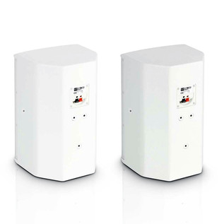 """LD Systems 6.5"""" Passive Installation Monitor, White (Pair)"""