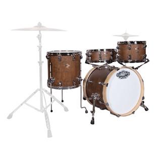 Liberty 4pc Jazz Series Drum Kit, Walnut Over Birch