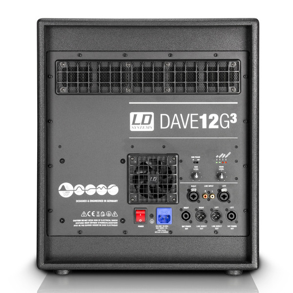 LD Systems DAVE12G3 Subwoofer, Rear