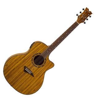 Dean Exotica Electro Acoustic Guitar, Zebra Wood
