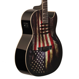 Dean Mako Dave Mustaine Electro Acoustic Guitar, USA Flag