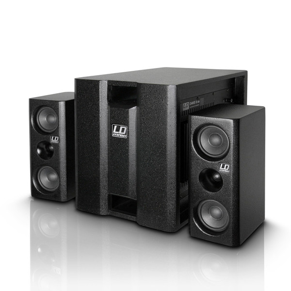 LD Systems DAVE8XS Compact Active PA System, Black