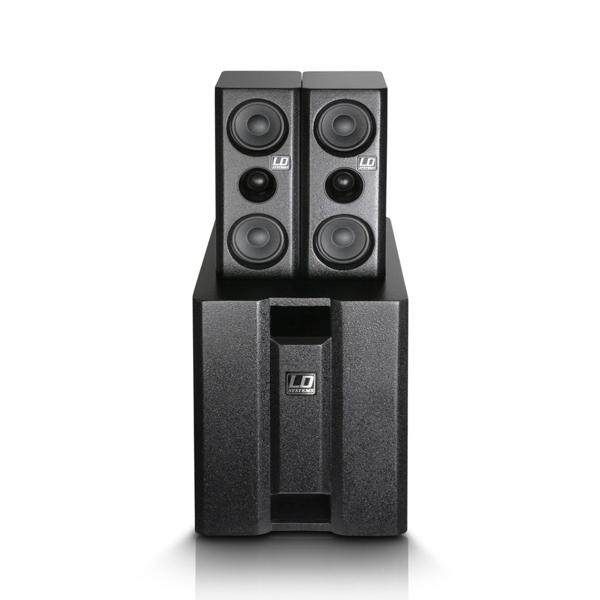 ld systems dave8xs compact active pa system black at gear4music. Black Bedroom Furniture Sets. Home Design Ideas