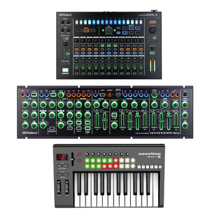 Roland AIRA MX-1 Mix Performer Bundle with System 1M and Launchkey 25