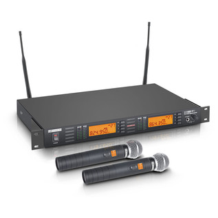 LD Systems Wireless Microphone System with 2 x Handheld Microphones