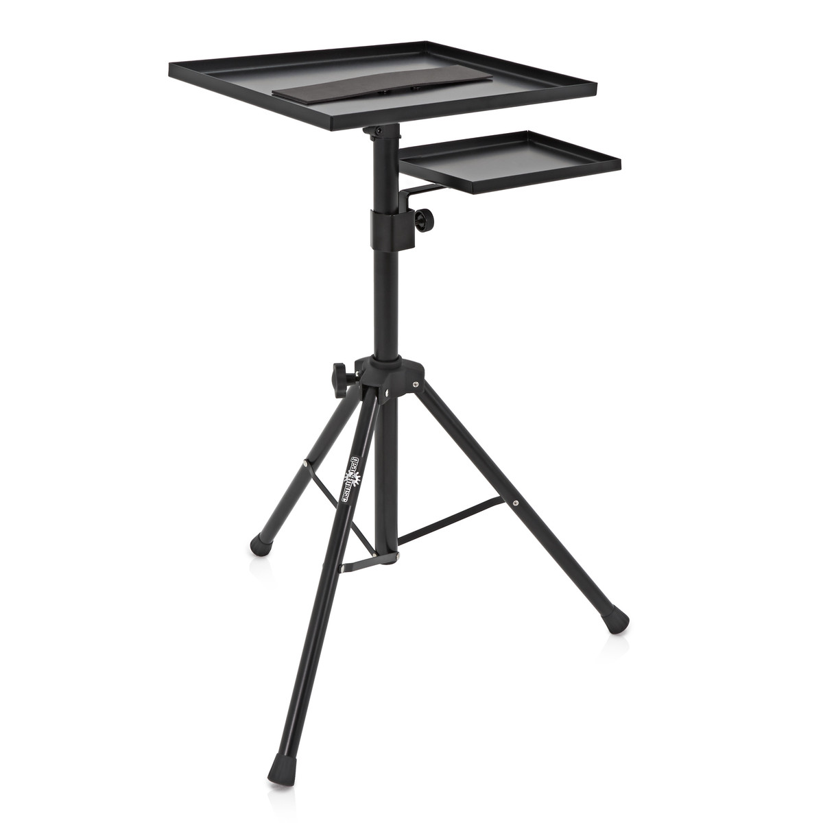 Click to view product details and reviews for Adjustable Laptop Stand With Mouse Shelf By Gear4music.