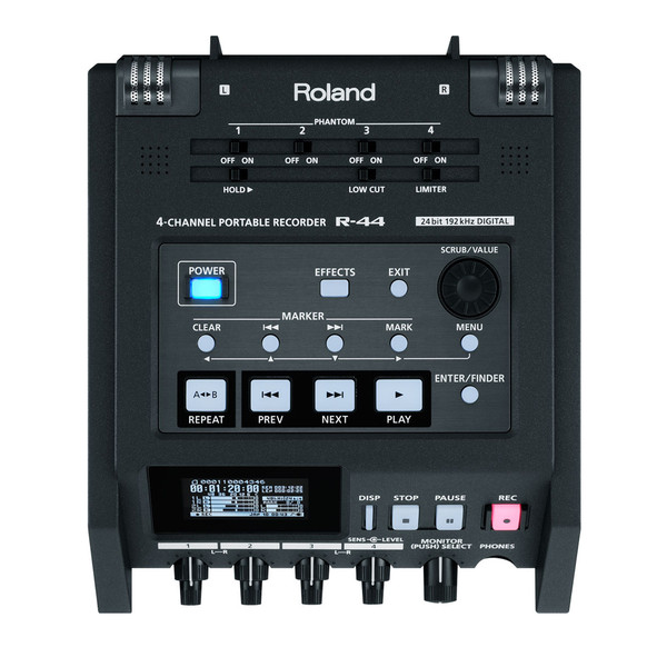 Roland R-44E 4 Channel Compact Portable Field Recorder
