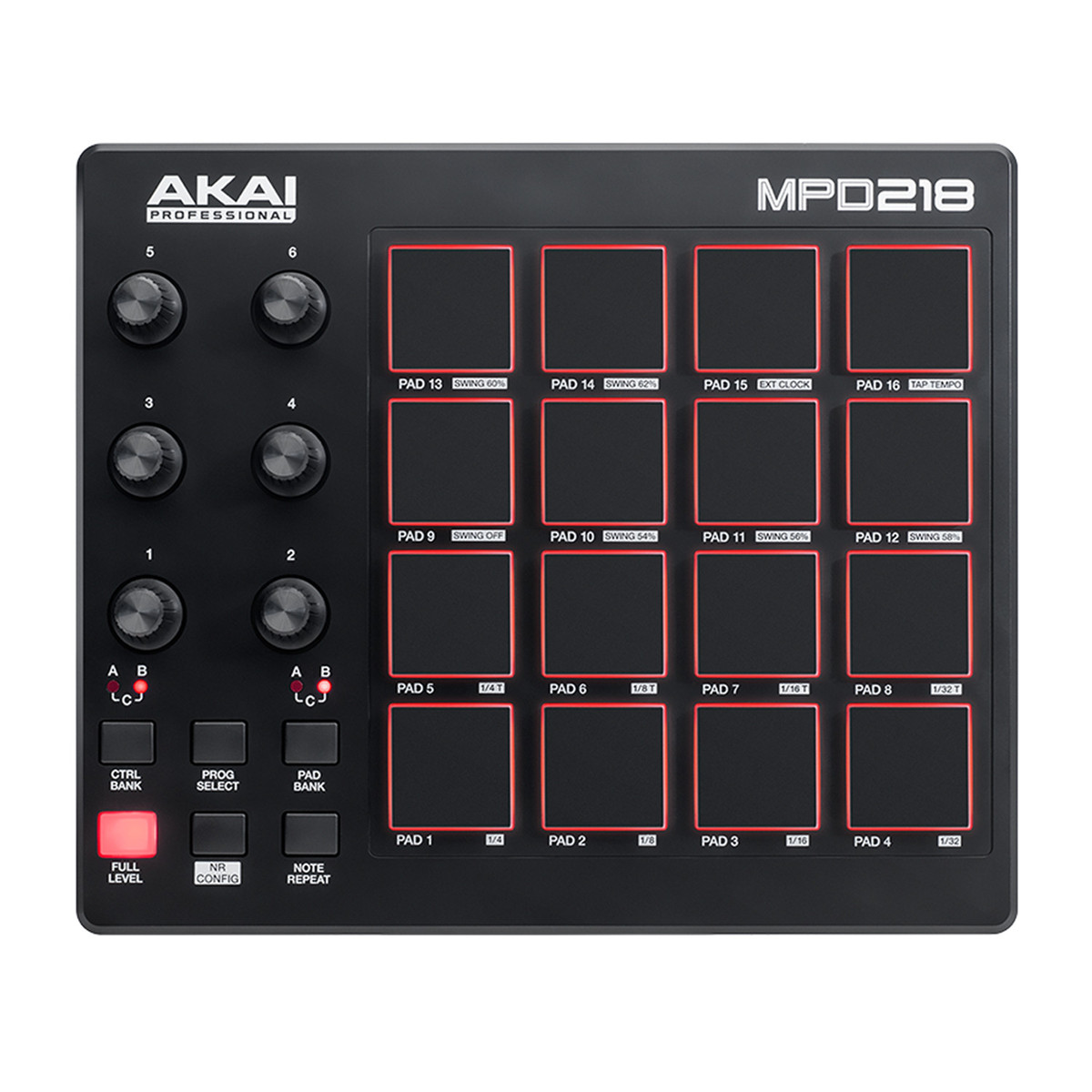 akai mpd218 pad controller at. Black Bedroom Furniture Sets. Home Design Ideas