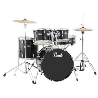 Pearl Roadshow 5 Piece Compact Drum Kit, Jet Black