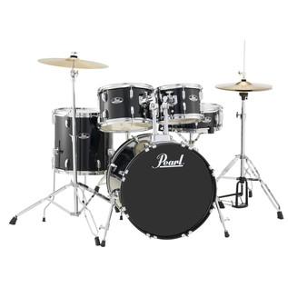 Pearl Roadshow 5 Piece Compact Drum Kit, Jet Black