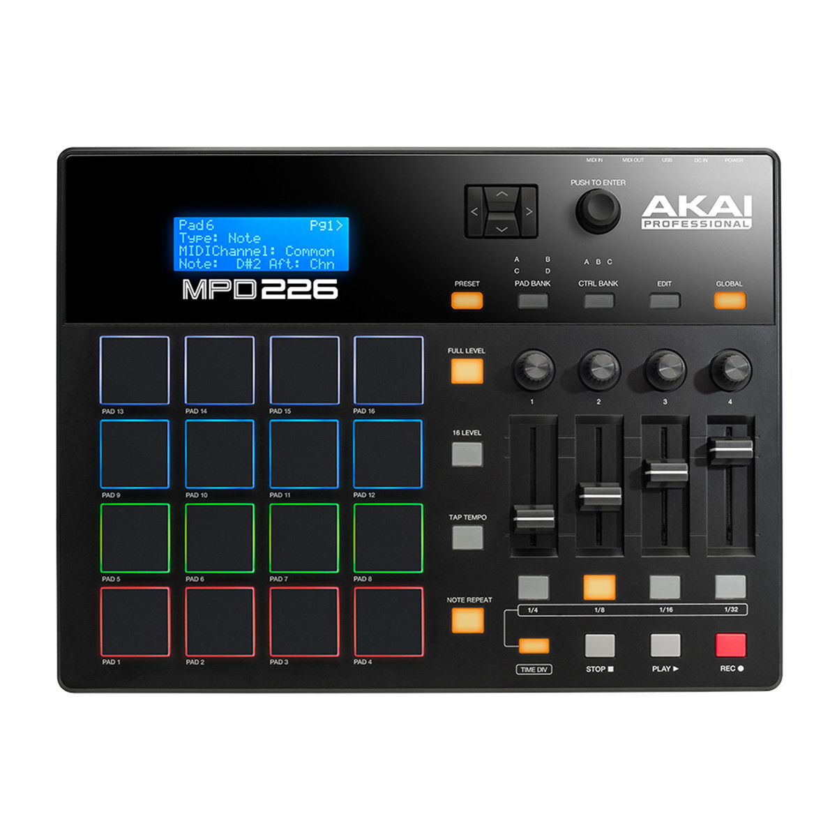 Akai Professional MPD226 Pad Controller with Faders