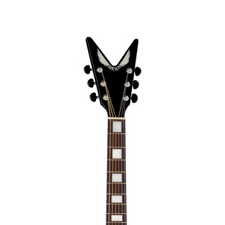 Dean V-Wing Thin Body Electro Acoustic Guitar, Classic Black
